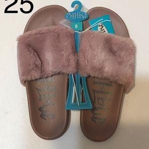 womens phoebe slide sandals mauve